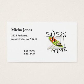Cartes De Visite Temps de sushi