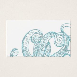 Cartes De Visite Tentacules turquoises de poulpe