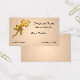 Cartes De Visite Texture d'or de toile de lézard