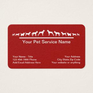 Cartes De Visite Thème de chien de service d'animal familier