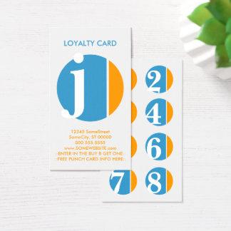 Cartes De Visite timbre de fidélité d'écrasement de couleur