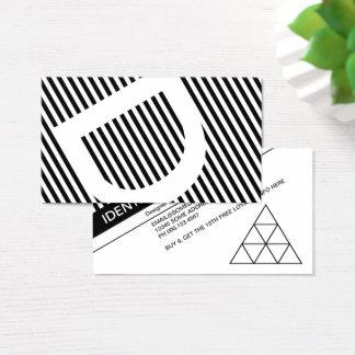 Cartes De Visite timbre diagonal de fidélité d'abat-jour