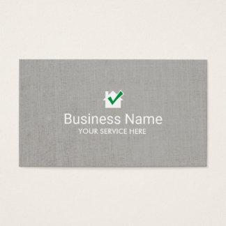 Cartes De Visite Toile chique d'icône de Chambre d'immobiliers de