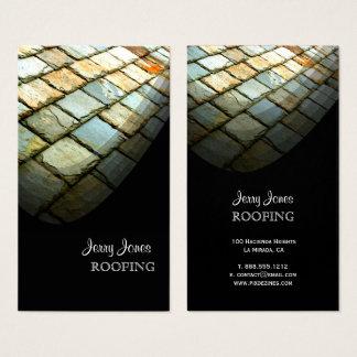 Cartes De Visite Toiture, toit de tuiles d'ardoise, photo