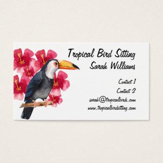 Cartes De Visite Toucan tropical de garde d'enfants d'oiseau