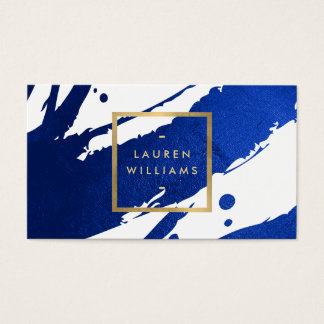 Cartes De Visite Traçages abstraits de bleu d'indigo