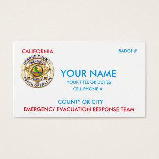 Cartes De Visite Transit public de la Californie