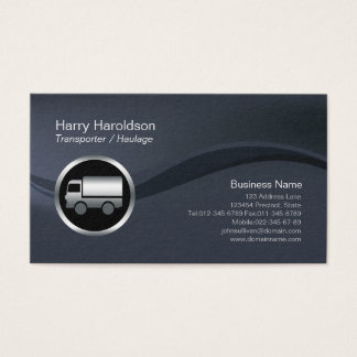 Cartes De Visite Transport BusinessCard de transporteur d'icône de