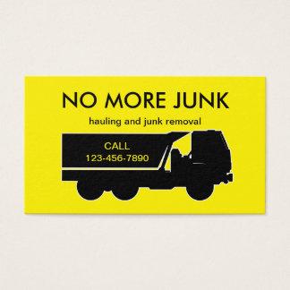 Cartes De Visite Transport et enlèvement d'ordure