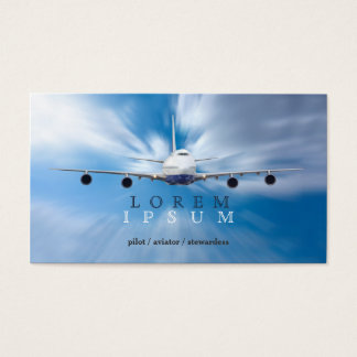 Cartes De Visite Transport pilote de ciel d'avion d'hôtesse