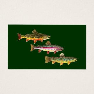 Cartes De Visite Truite 3 pour des pêcheurs et des Fisherwomen de
