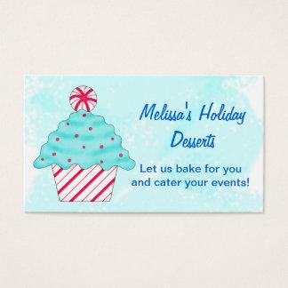 Cartes De Visite Turquoise, cuisson de petit gâteau de Chrismas de