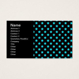 Cartes De Visite Turquoise et profil sous convention astérisque
