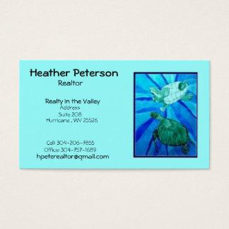 Cartes De Visite turtle2, Heather Peterson, agent immobilier, objet