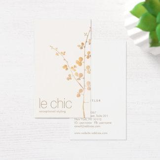 Cartes De Visite Un or chic moderne plus simple part de la branche