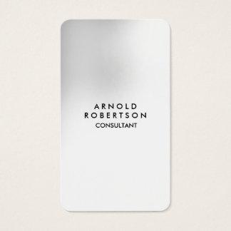 Cartes De Visite Unique élégant de blanc gris de coin arrondi