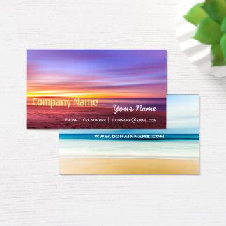 Cartes De Visite Vacances élégantes de voyage de spa de plage de