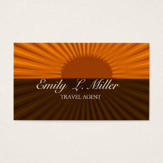 Cartes De Visite Vacances en hausse audacieuses d'agent de voyage