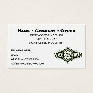 Cartes De Visite Végétarien personnalisé
