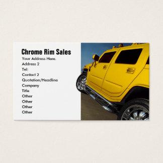 Cartes De Visite Ventes de voiture, ventes de jante