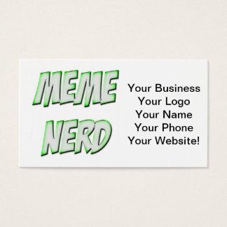 Cartes De Visite Vert de ballot de Meme