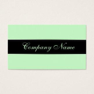 Cartes De Visite Vert élégant de menthe de pastel de simplicité