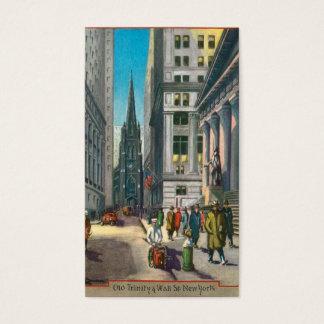 Cartes De Visite Vieille trinité et Wall Street, New York