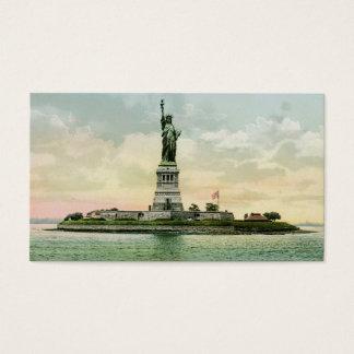 """Cartes De Visite Vintage """"statue de la liberté """""""