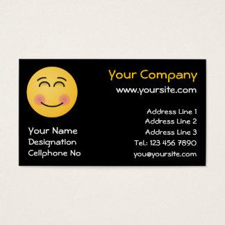 Cartes De Visite Visage de sourire avec les yeux de sourire