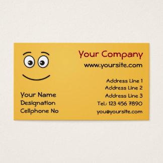 Cartes De Visite Visage de sourire avec les yeux ouverts