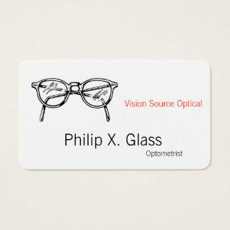 Cartes De Visite Vision optique de lunetterie de lunettes