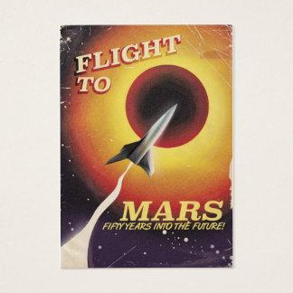 Cartes De Visite Vol à Mars ! affiche vintage de la science fiction