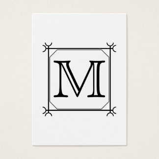 Cartes De Visite Votre lettre. Monogramme fait sur commande. Noir