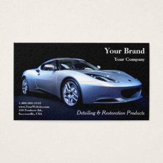 Cartes De Visite Votre voiture d'argent de marque