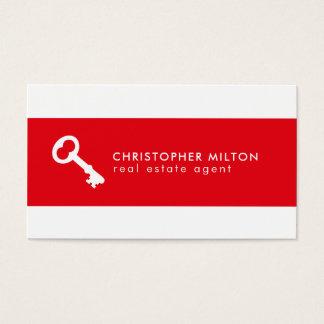 Cartes De Visite Vrai agent immobilier d'icône principale blanche