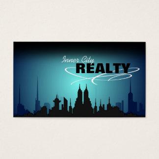 Cartes De Visite Vraies affaires d'agent immobilier de ville bleue