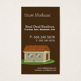 Cartes De Visite Vraies affaires d'agent immobilier de vrai objet