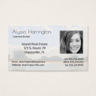 Cartes De Visite Vraies affaires de photo d'agent immobilier