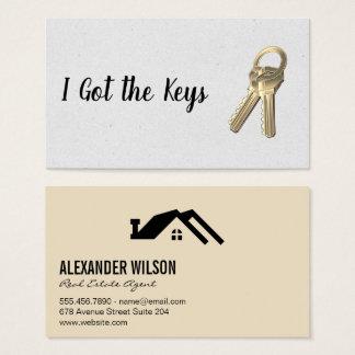 Cartes De Visite Vrais agent immobilier/clés