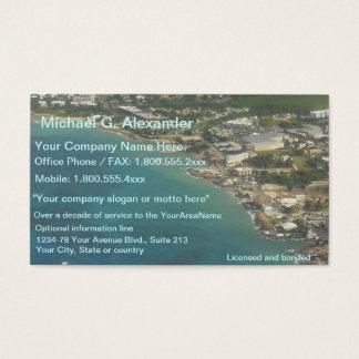 Cartes De Visite Vue d'océan d'immobiliers de propriété de plage