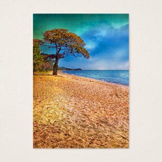 Cartes De Visite Vue idyllique de plage