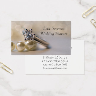 Cartes De Visite Wedding planner de bague de fiançailles de diamant