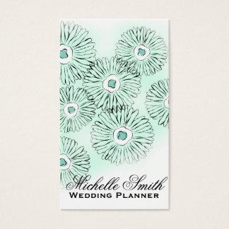 Cartes De Visite Wedding planner noir et blanc de fleuristes de