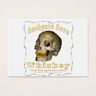 Cartes De Visite Whiskey de brûlure de jardin