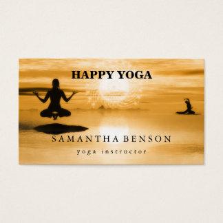 Cartes De Visite Yoga élégant de logo