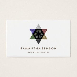 Cartes De Visite Yoga élégant de logo d'étoile