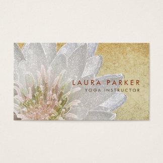 Cartes De Visite Yoga holistique de méditation d'aquarelle de fleur