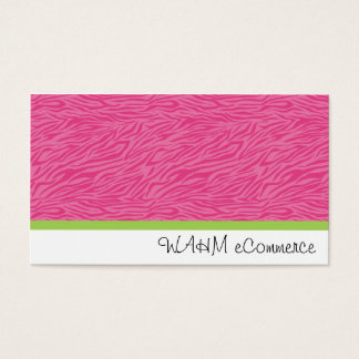 Cartes De Visite Zèbre rose avec la rayure verte