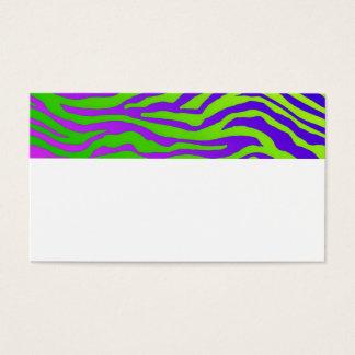 Cartes De Visite Zèbre vert