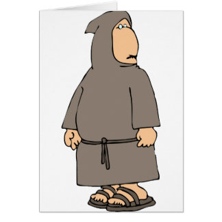 Cartes de voeux à capuchon de moine